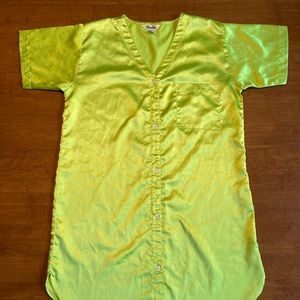 Womens lime green pajama gown